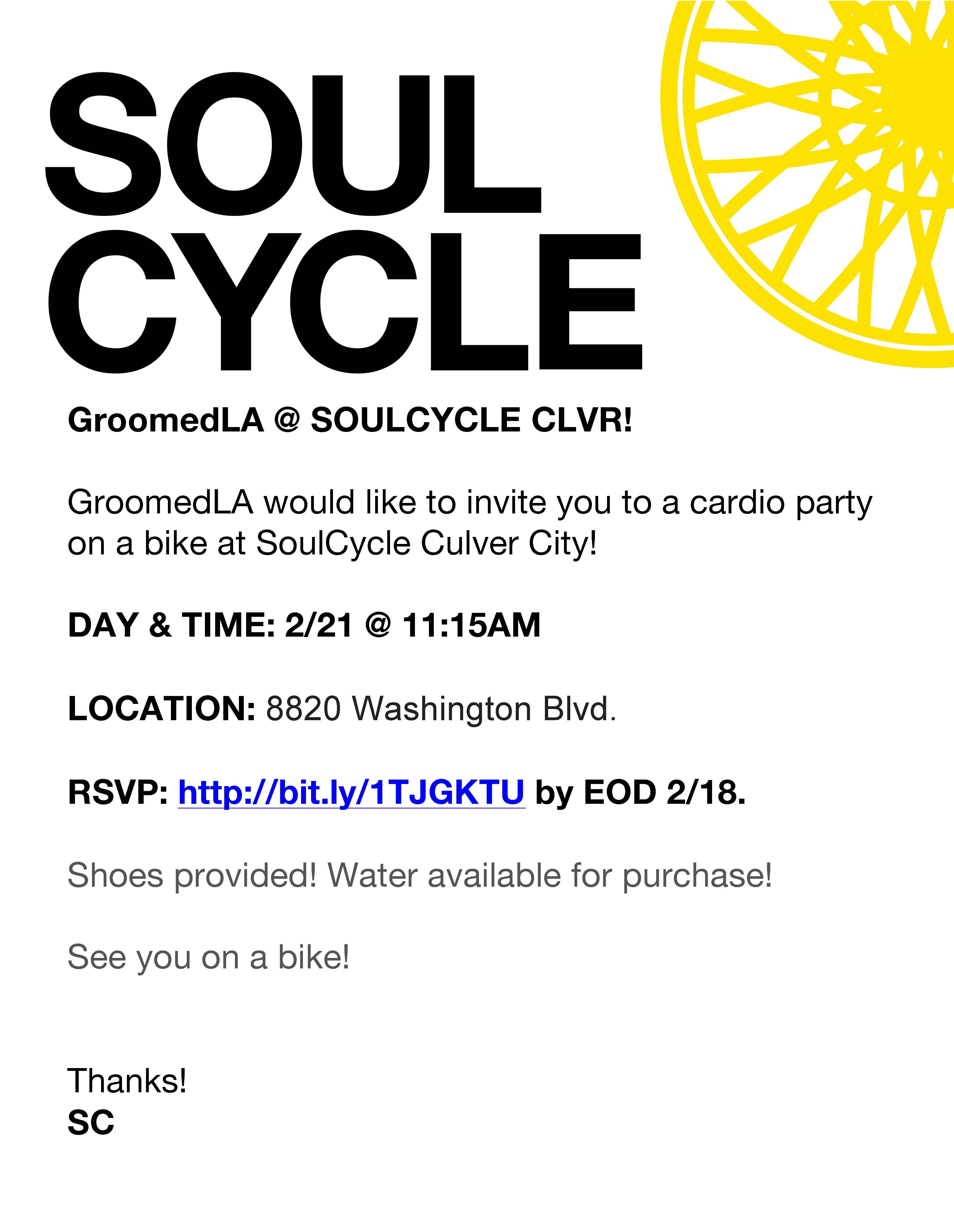 GroomedLA Invite