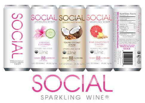 Social Sparkling Wine Organic Gluten Free Sulfite Free